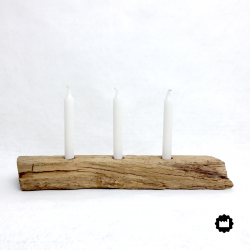 Bougeoir en bois 3 bougies