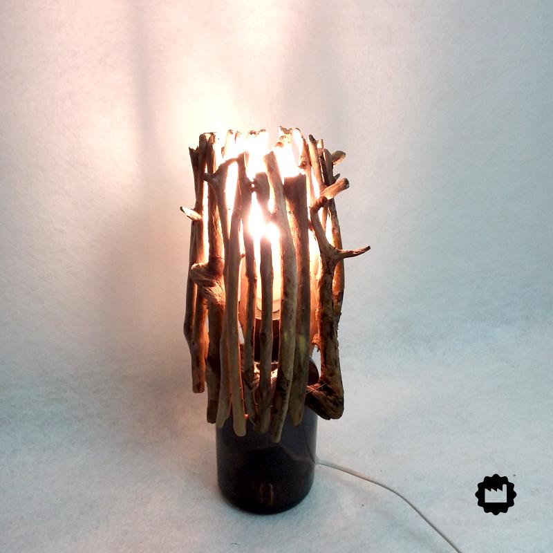 Lampe de chevet bouteille Gentiane