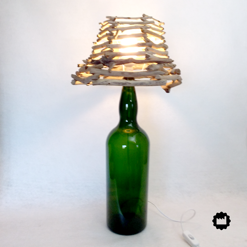 Lampe de chevet grande bouteille